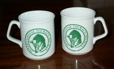 Two earthenware mugs