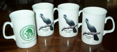 Four bone china mugs
