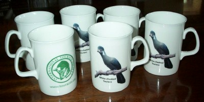 Six bone china mugs